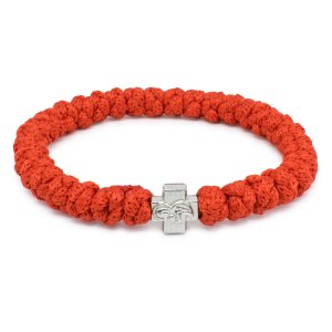 Prachtvolles Rote orthodox Knoten Armband