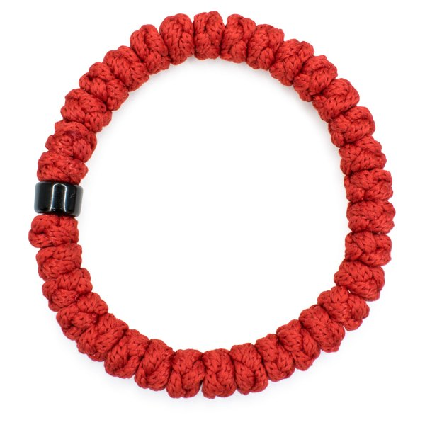 Red Prayer Bracelet with Bead-151