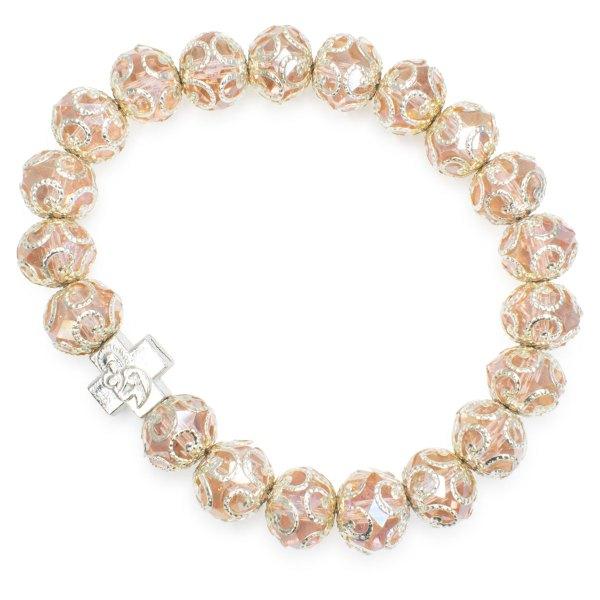 "Beautiful Rose Glass Prayer Bracelet ""Petra"""