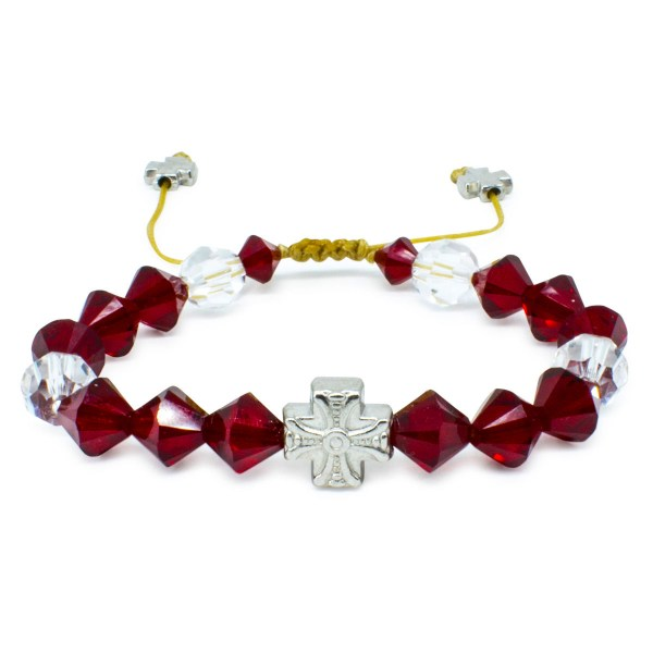 "Magnificent Swarovski Crystal Prayer Bracelet ""Ruby"""