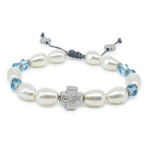 "Traumhaftes Swarovski Kristal und Perlen orthodox Armband ""Sophie""."