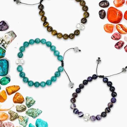precious stone prayer bracelet