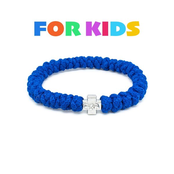 Traditional blue prayer bracelet for kids