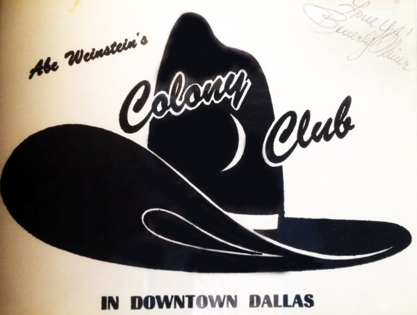 Colony Club flyer signed by Beverly Oliver