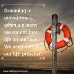 drowning in our storms