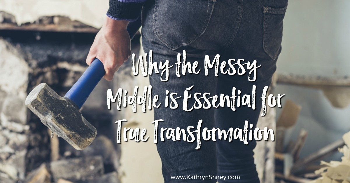Do you desire a change in your life? Between the 'before' and the 'after' is the messy middle, which is essential for transformation. Trust God with the design and lean into the messy middle.