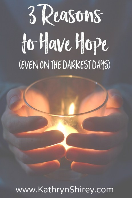 Does hope seem out-of-reach, the days too dark? Find 3 reasons to have hope (even on the darkest days) in the story of Mary's encounter with the angel Gabriel. As we light the Advent hope candle, read Luke 1:26-56 and find HOPE for your life!