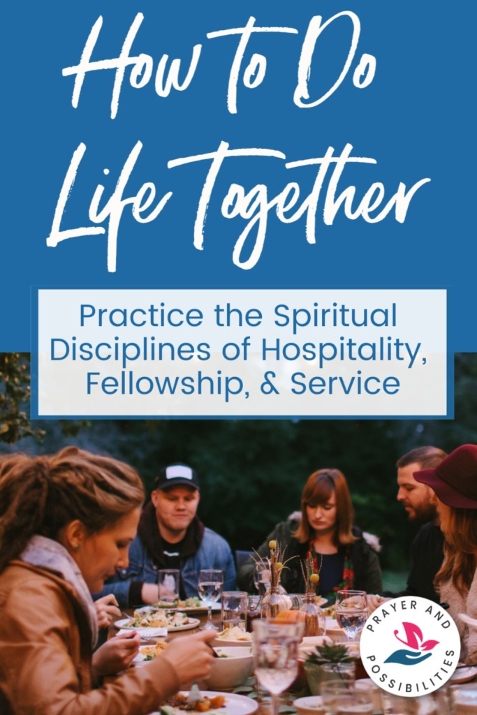 You aren't meant to do life alone. God wants you doing life together with others. Explore the spiritual discipline of service, fellowship, and hospitality.