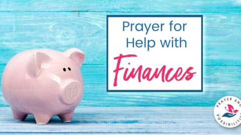 A daily prayer for help with finances. Pray to trust God with your finances and have faith that he will provide for your needs.