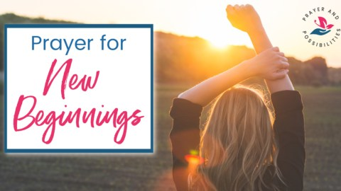 A daily prayer for new beginnings. Pray for God's love, which never ceases. Pray for God's mercy, which comes fresh every morning.