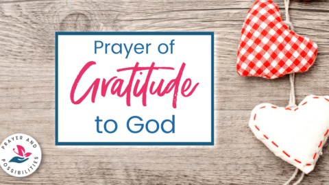 A daily prayer of gratitude to God. Pray to give thanks and praise to God for who he is and the work he's doing in your life.