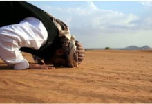 someone offering prostration.
