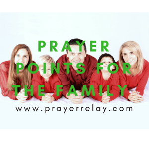 Prayer for Family: Over 35 Points