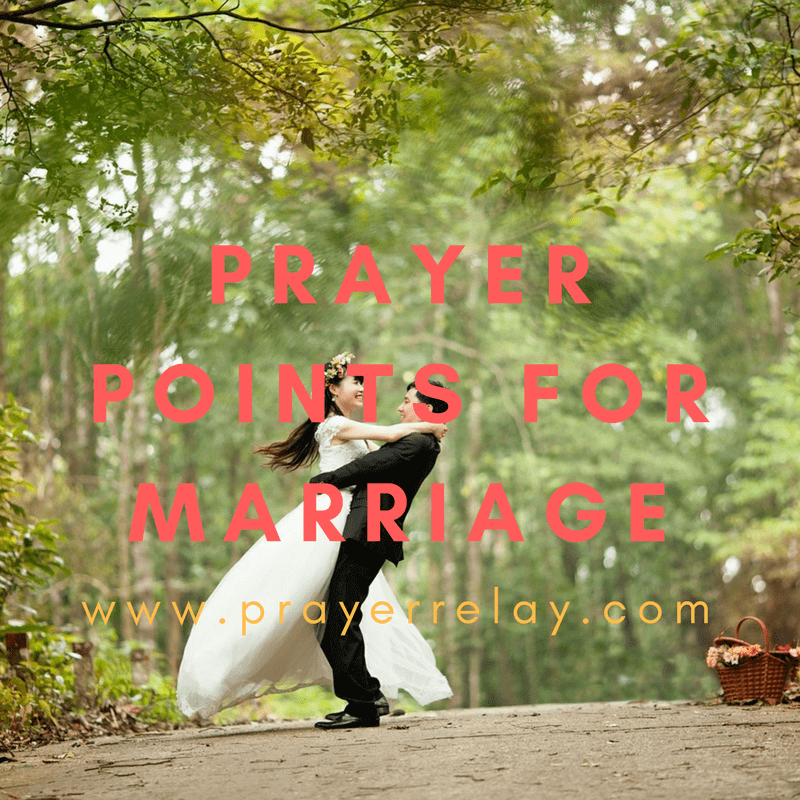 Prayer points for marriage