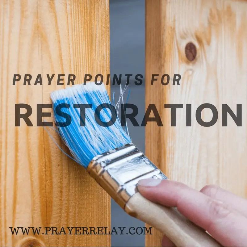 prayer for restoration prayer points