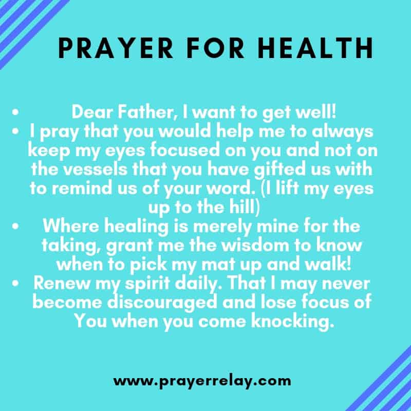 PRAYER FOR HEALTH