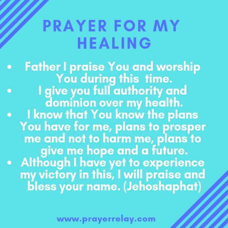 PRAYER FOR MY HEALING