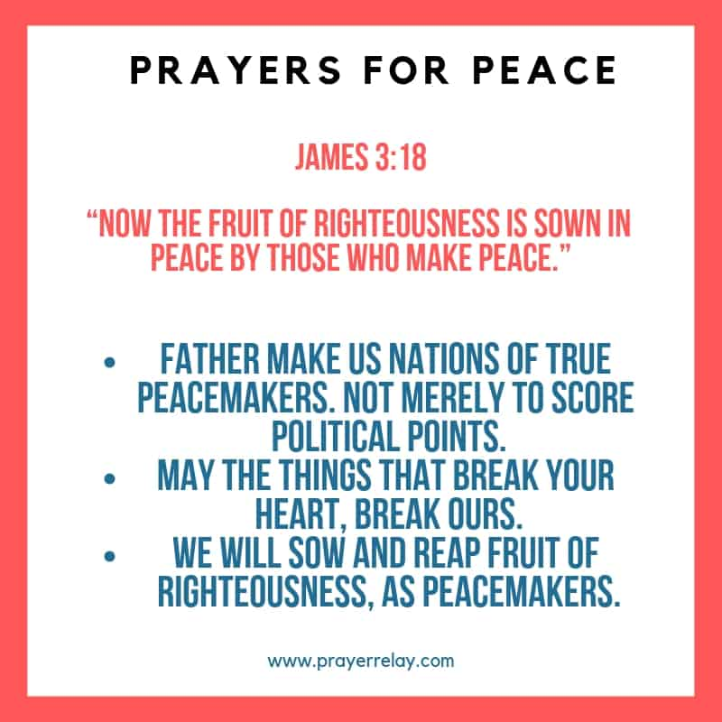 prayer for peace in our nation