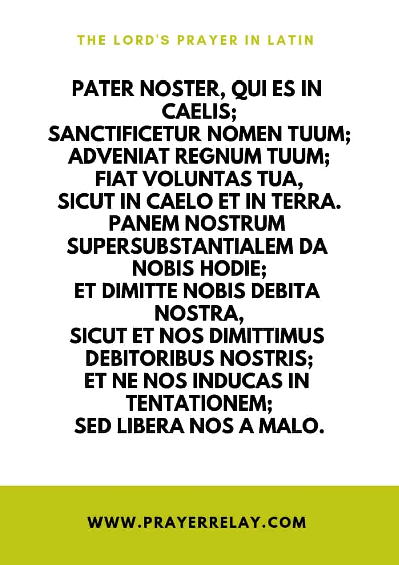 THE LORD'S PRAYER IN Latin
