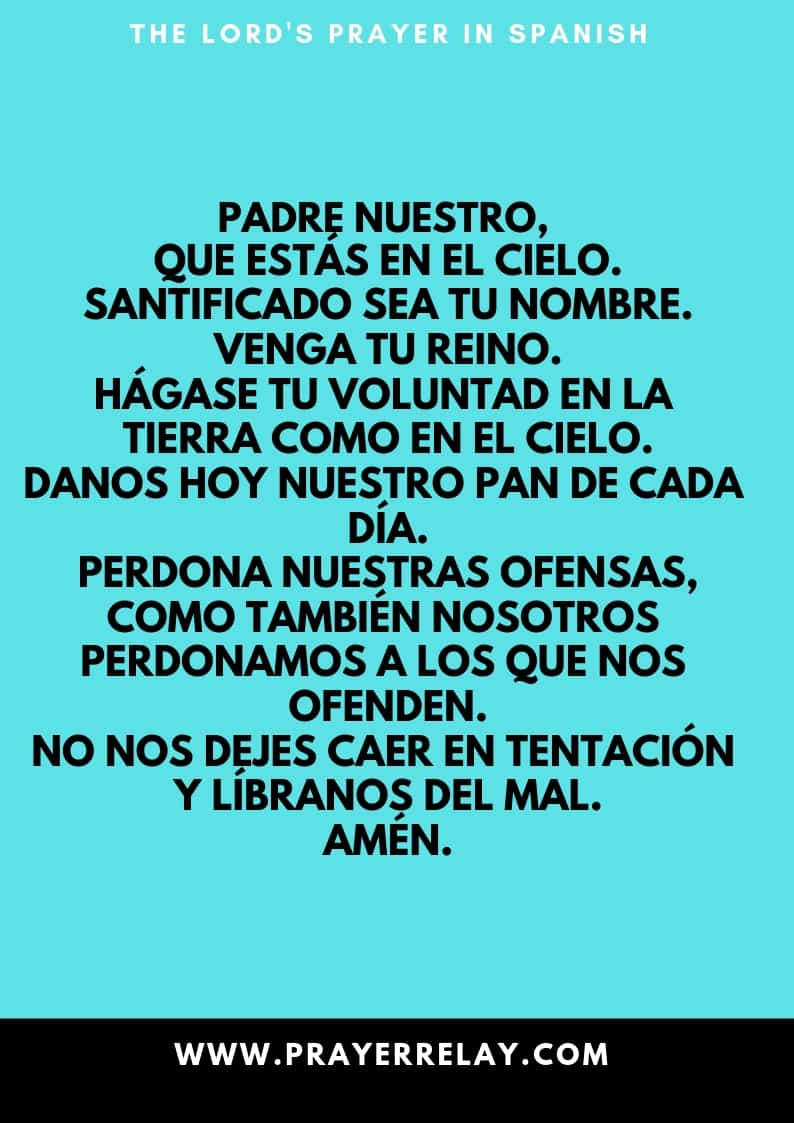 THE LORD'S PRAYER IN Spanish
