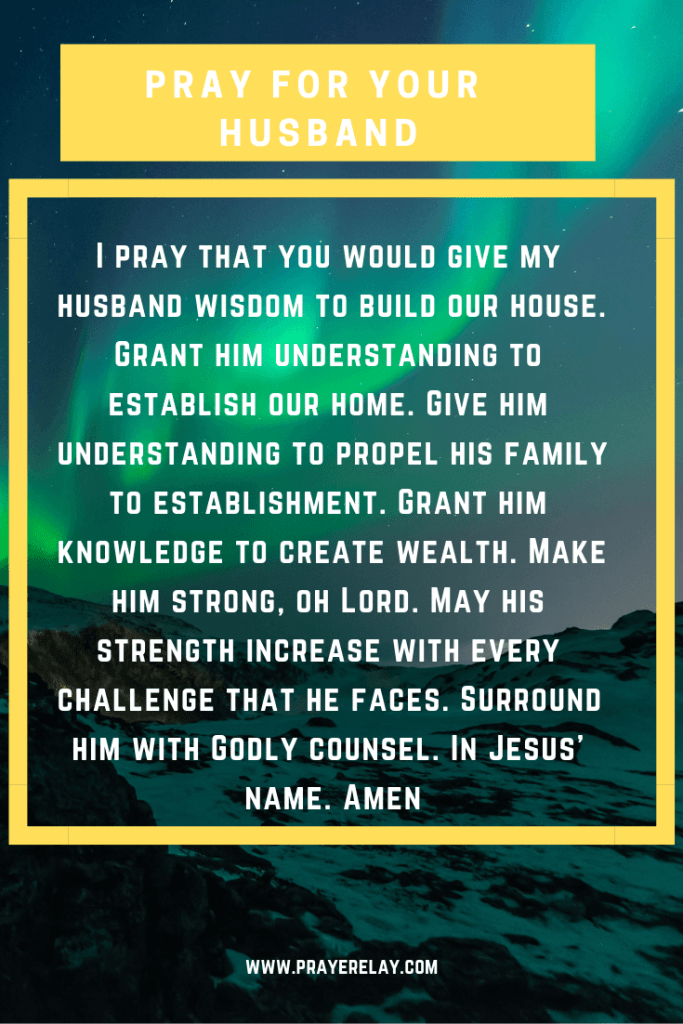 pray for your husband to be established