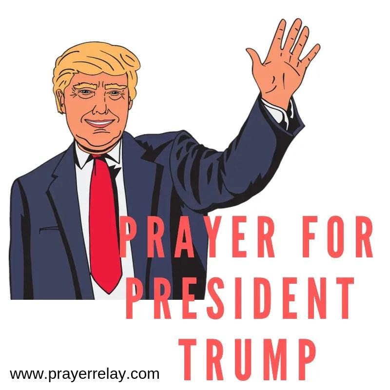 Prayer for President Trump poster