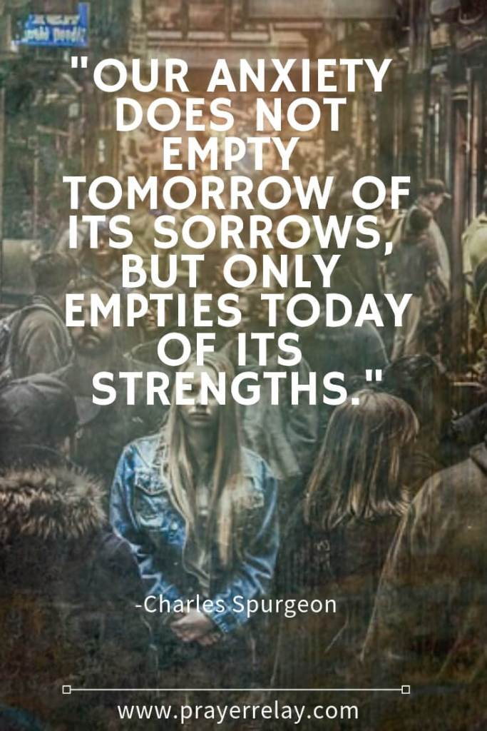 Spurgeon quote on anxiety