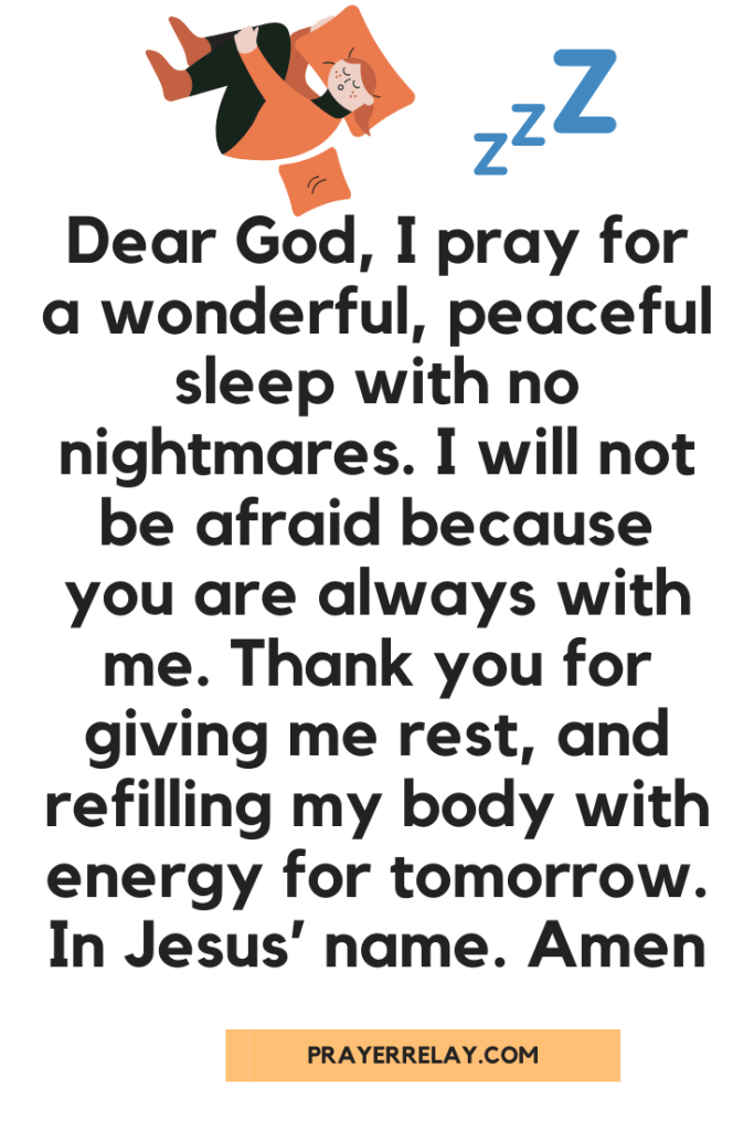 Bedtime Prayer for kids 5