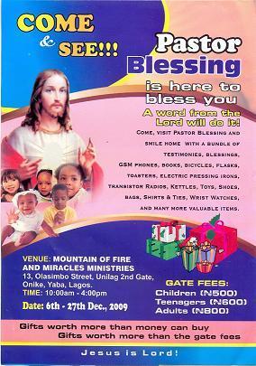 Pastor Blessing MFM