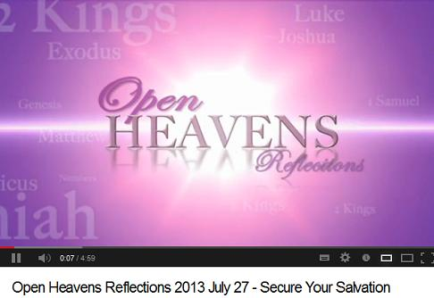 open heavens july 27