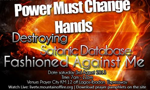 Power must change hands programme August 2013
