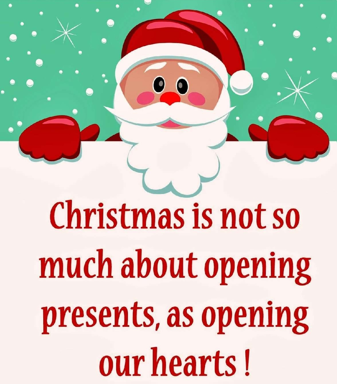 Christmas opens our hearts