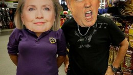 HALLOWEEN MASKS OF HILLARY AND TRUMP