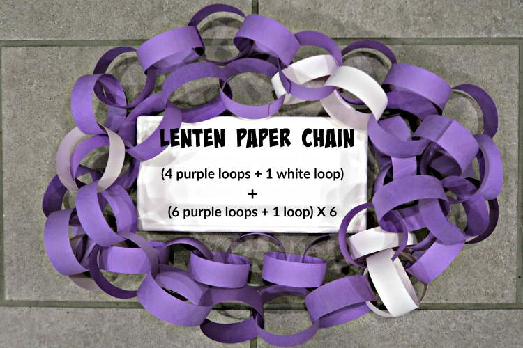 How to Make a Lent Paper Chain