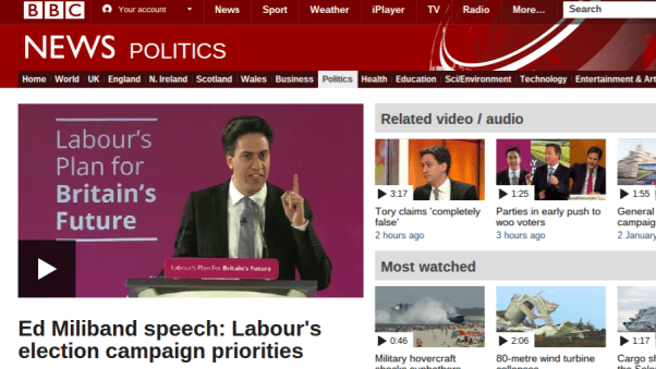 Public Relations Crtique of Milliband Speech