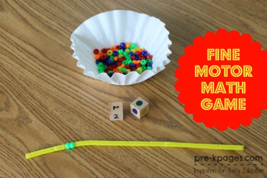 Fine Motor Math Game Fine Motor Math Game for Preschool
