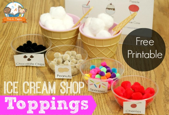 Dramatic Play Ice Cream Shop Pre K Pages