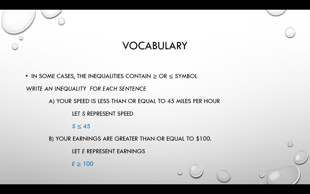 How I Teach Inequalities Prealgebra Lesson Plans