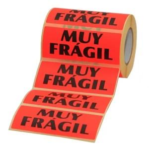 Etiqueta muy frágil