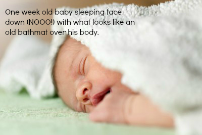 baby sleeping prone models unsafe crib sleep