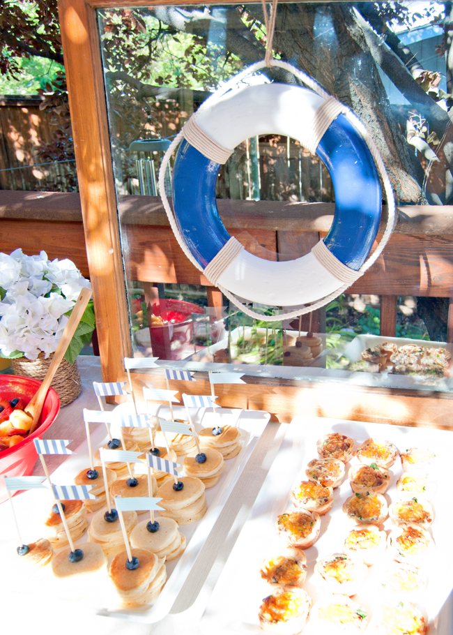 Nautical Baby Shower brunch