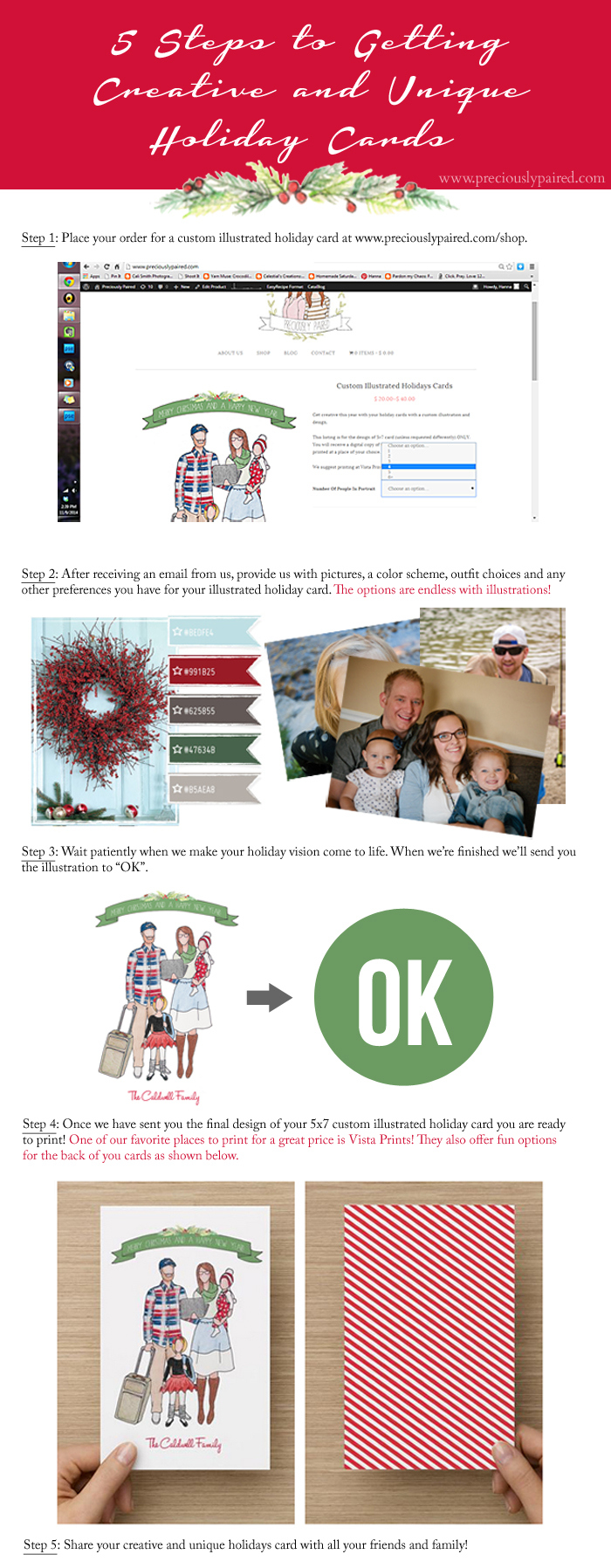 5 Steps to Getting Custom Illustrated Holiday Cards