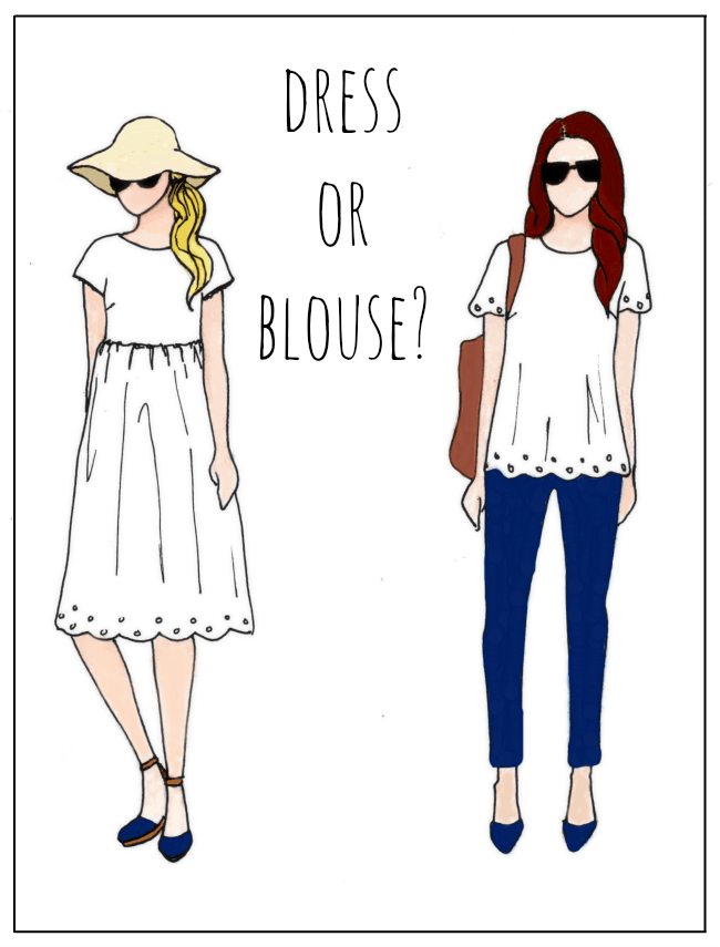 Eyelet Skirt Refashion (Dress or Blouse?) | Preciously Paired