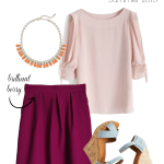 Splash of Color: Berry Pleated Midi Skirt
