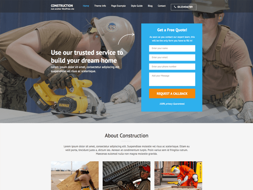 construction-landing-page