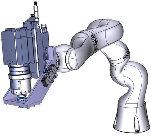 Iiwa robot with Orbibot
