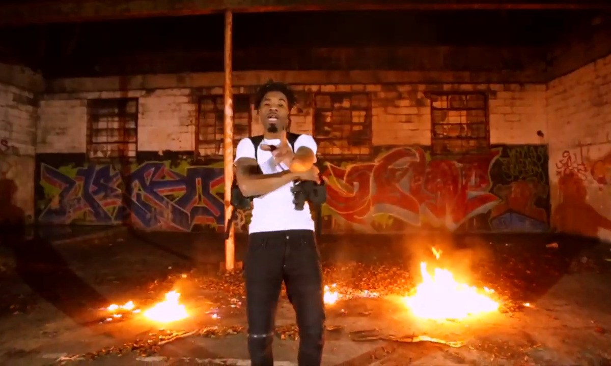 "Cartier Ceaser walks in the fire for ""Stand My Ground"" video"