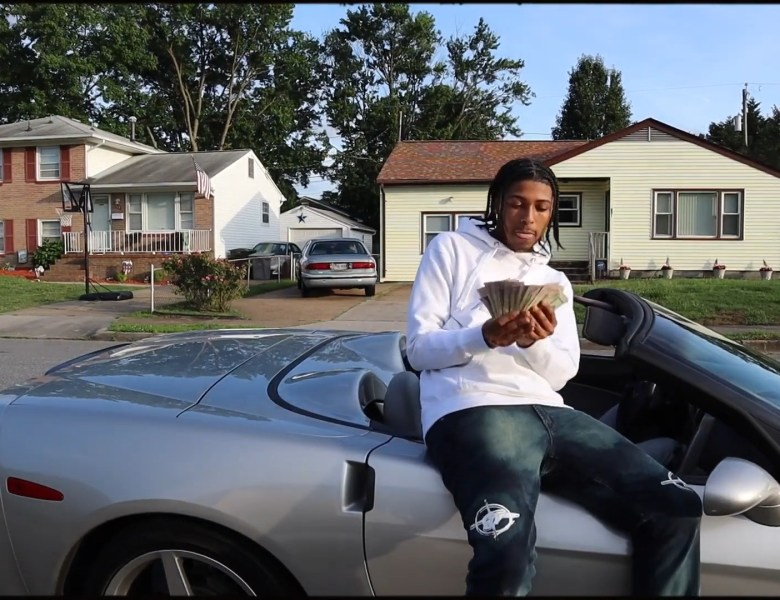 "VA Rapper Cashjay Burns Out In The Vette For ""Pull Up"""