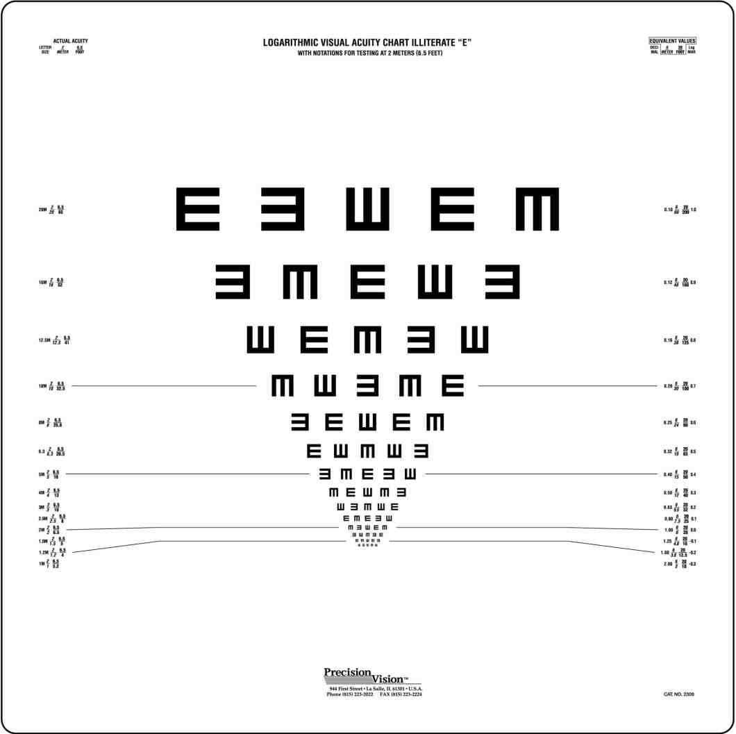 Printable Eye Test Chart Amtmakeup Co