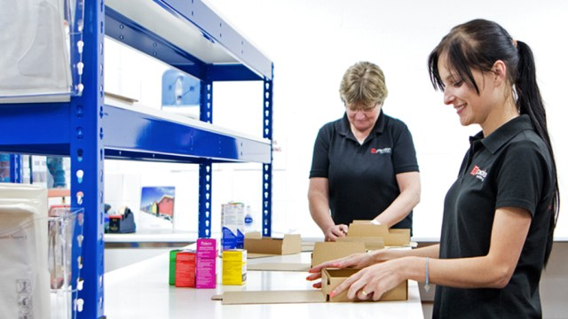 Pick, pack & despatch team preparing eCommerce orders
